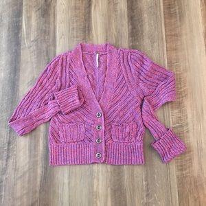 Free People V-neck cardigan sweater